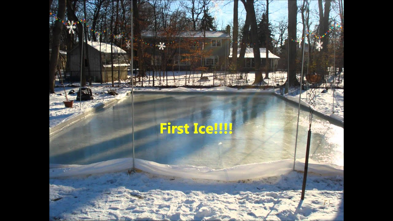 how to build a backyard ice rink youtube