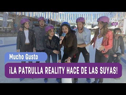 ¡La patrulla reality patinando sobre hielo! - Mucho Gusto 2017