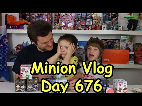 Opening Blinds Minion Vlog (pokemon, game of thrones, thomas the train) - Day 677 | ActOutGames