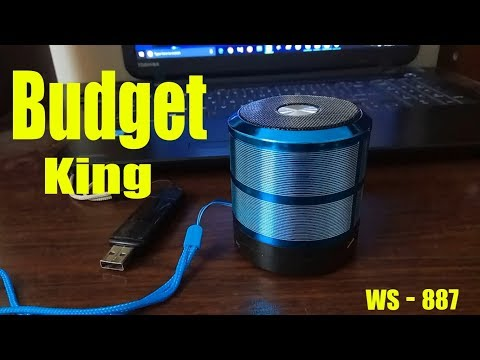 WS887 Bluetooth speaker hands on review and unboxing