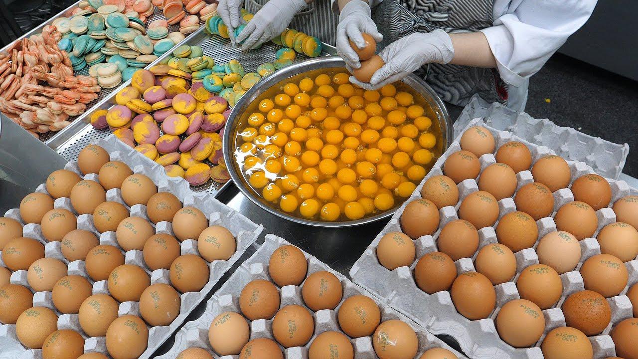 택배주문 많은곳! 시그니처 뚱카롱 3종 ( 조개롱, 슈팅스타, 초코누텔라 )  / Korean fat macaron - Korean street food
