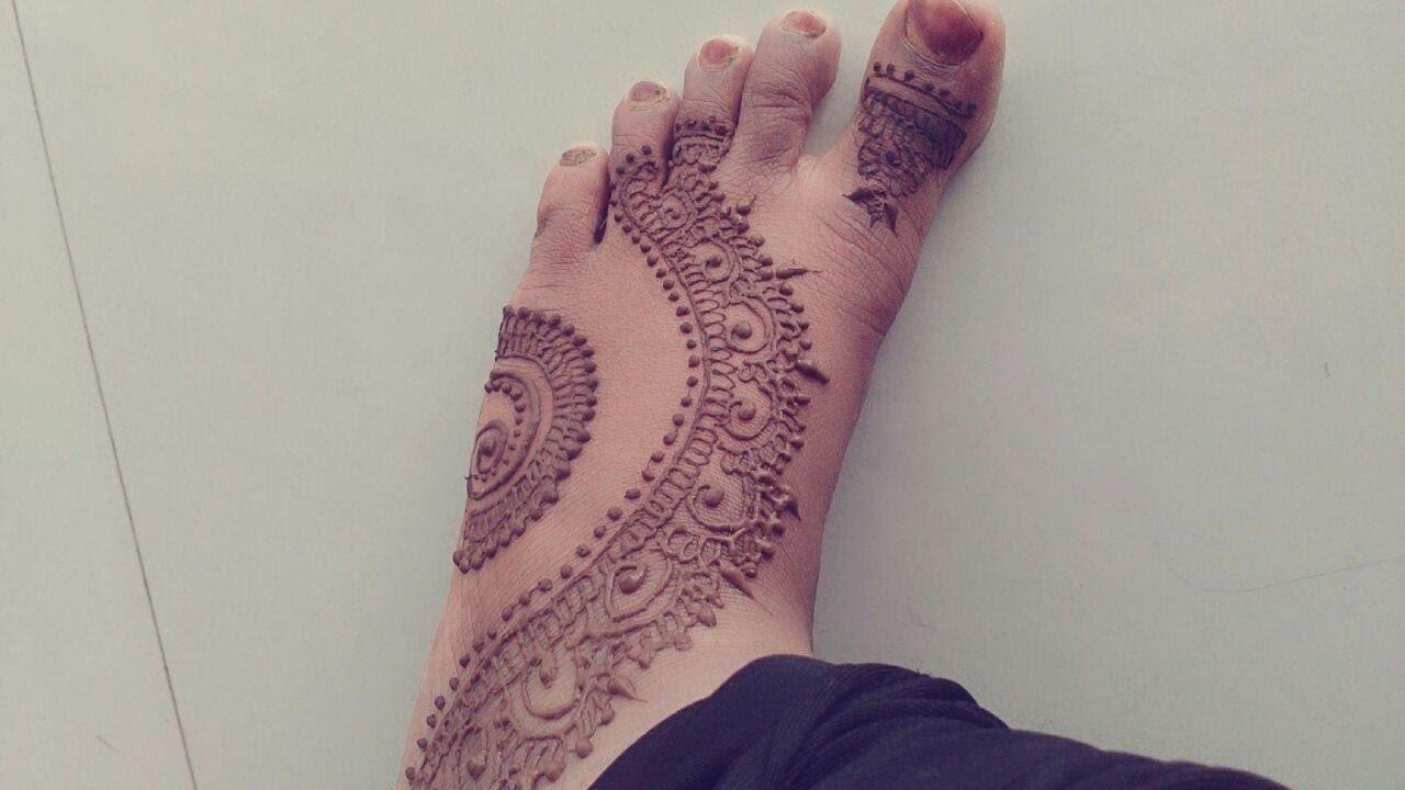 Mehndi design 2017 on foot - Intricate Foot Mehndi Henna Design For Leg 2017 Mehndi Designs For Leg