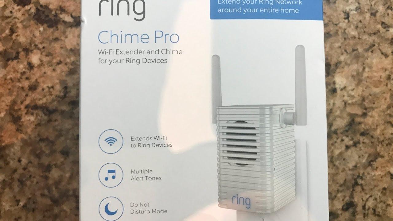 Ring WiFi Range Extender Smart Door Bell Chine Pro Front ...