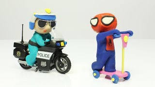 Diana and her friend play at being police 💗 Cartoons For Kids
