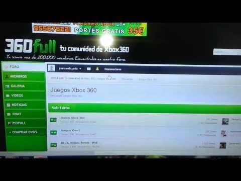 Descargar y Quemar Juegos de XBOX 360