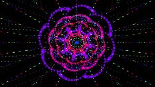 футаж hd - космический цветок