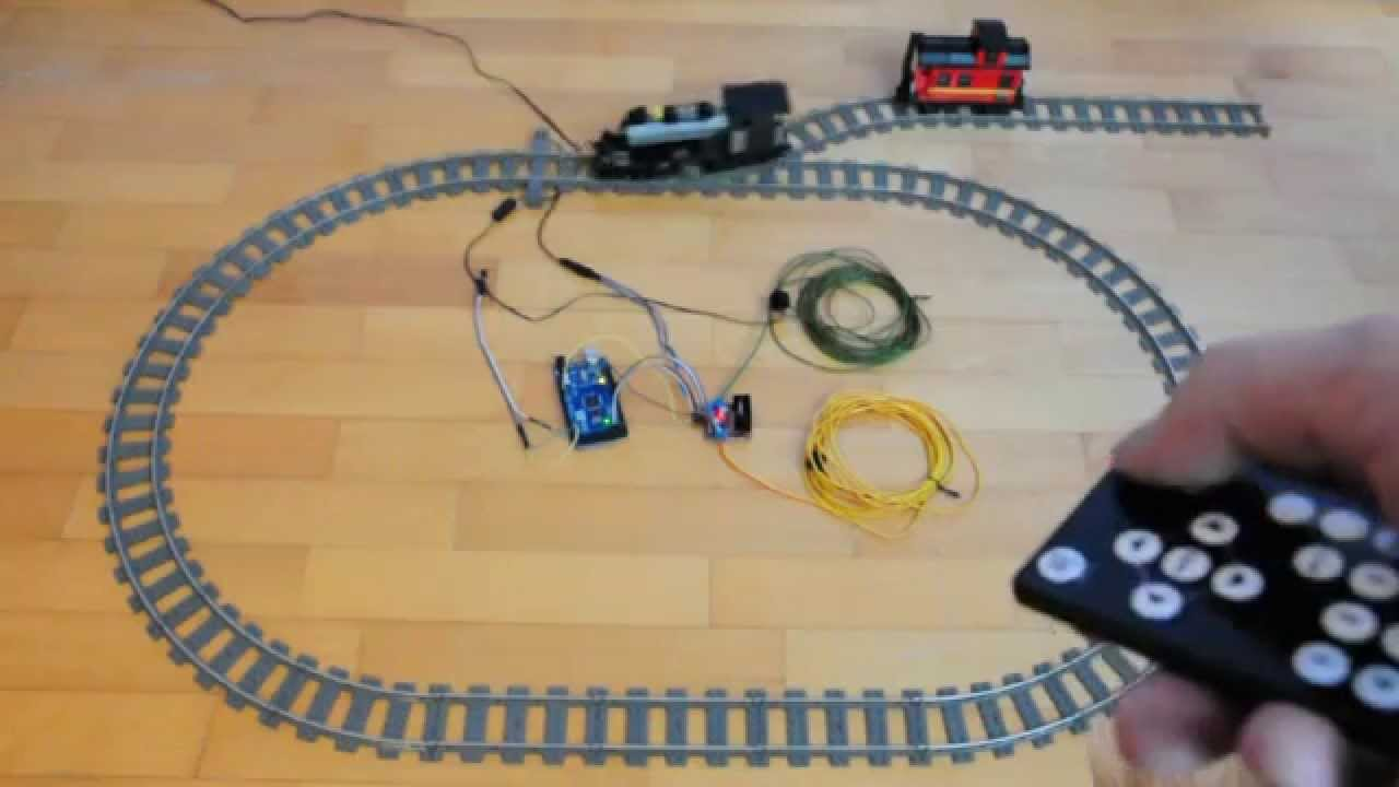 Arduino for lego trains infra red remote control youtube