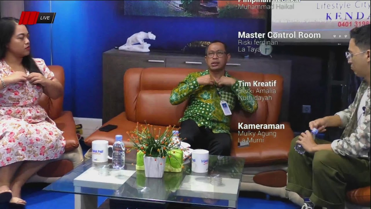 Selamat Pagi Sultra 24 Maret 2021 Bersama General Manager PT.Garuda Indonesia Branch Office Kendari