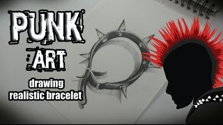 DIBUJANDO ARTE PUNK! | How to draw a punk bracelet | REALISTIC STYLE!