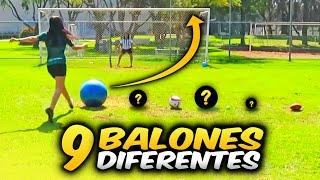 Reto de FÚTBOL: Tiros con 9 balones DIFERENTES + CASTIGO | Dúo Dinámico