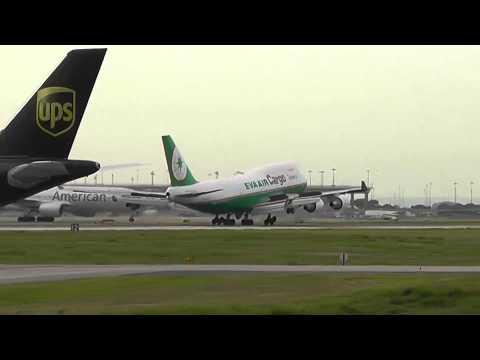Eva Air Cargo 747-400F - HARD Landing (DFW)