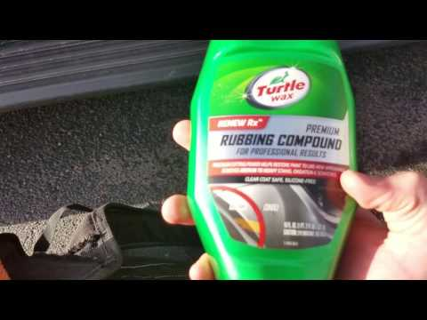 Turtle Wax Rubbing Compound Before And After Results