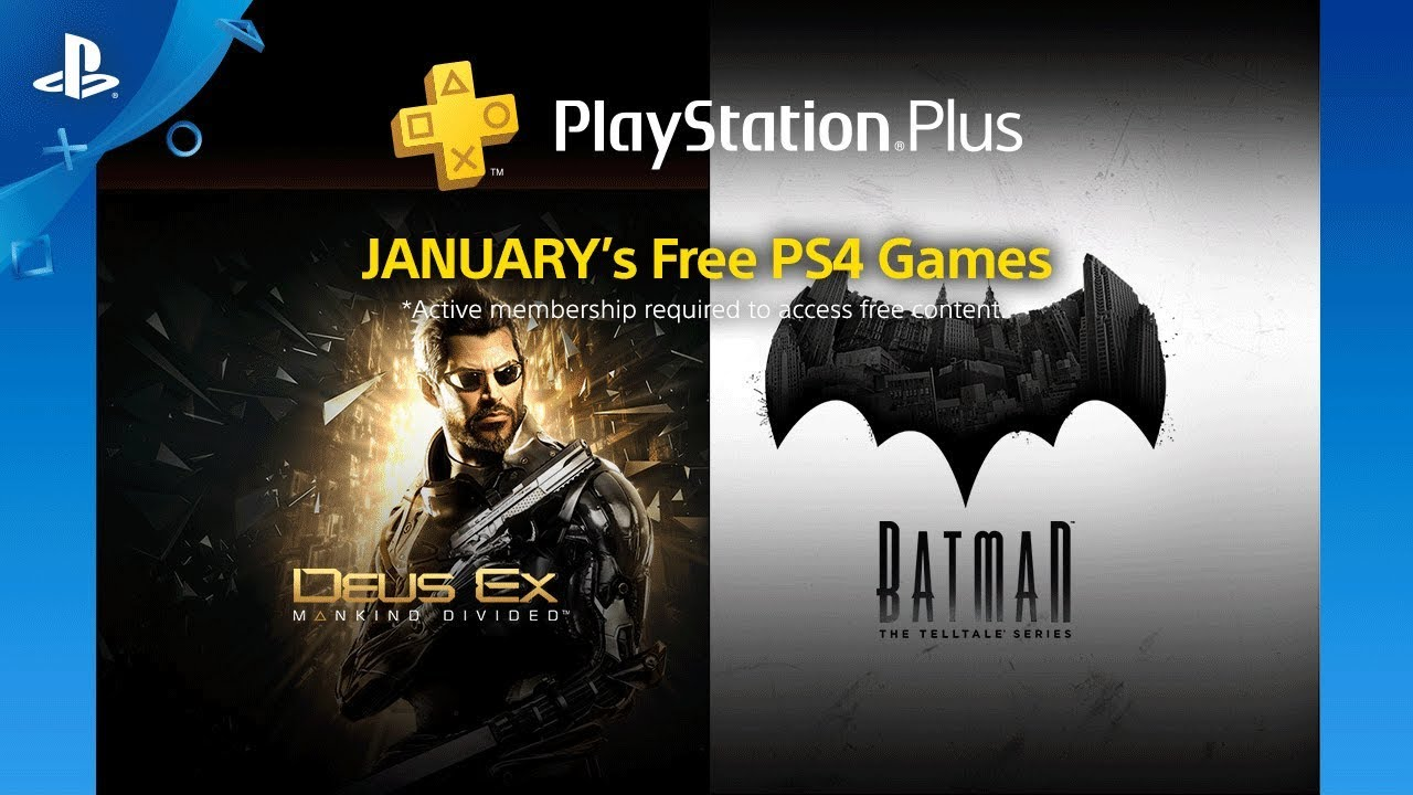 January 2018 Free Ps4 Games Lineup Playstation Plus