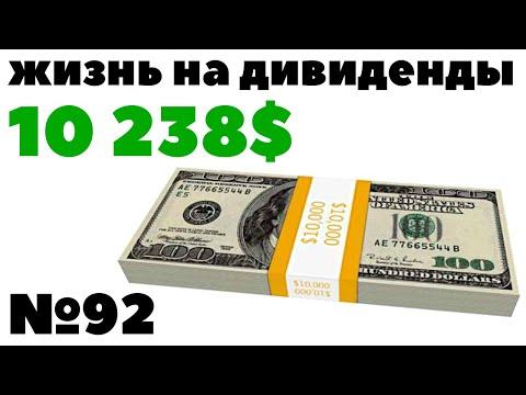 ✅Жизнь на дивиденды: 1679$ за месяц! 10 238$ в год. Как получать пассивный доход с инвестиций 2020