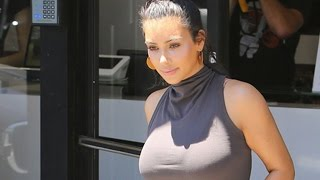 Kim Kardashian Shooting Scenes At Kimble Hair Studio