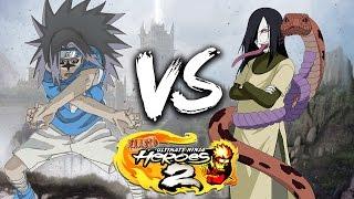 NARUTO Ultimate Ninja Heroes 2 - Sasuke vs Orochimaru Phantom Castle Battle
