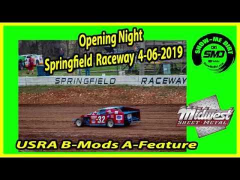S03 E173 USRA B-Mods A-Feature - Opening Night Springfield Raceway 4-06-2019 #DirtTrackRacing