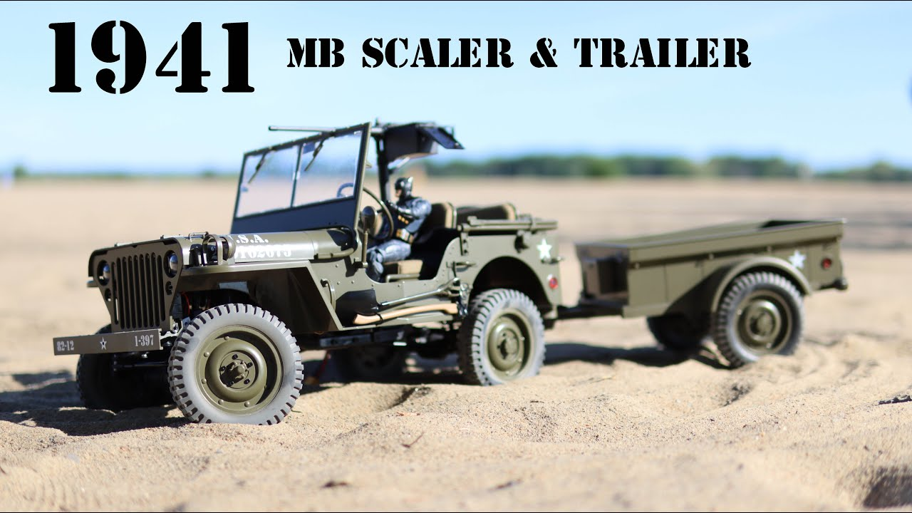 Simply Amazing - The ROCHobby 1941 MB Scaler & Trailer - 1/6 Scale RC Vehicle - Review