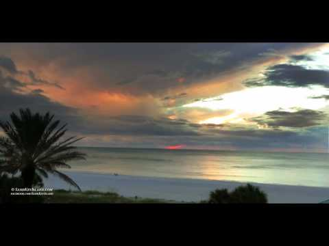 Stormy Sunset - Sand Key Island - Clearwater Beach Florida - Timelapse