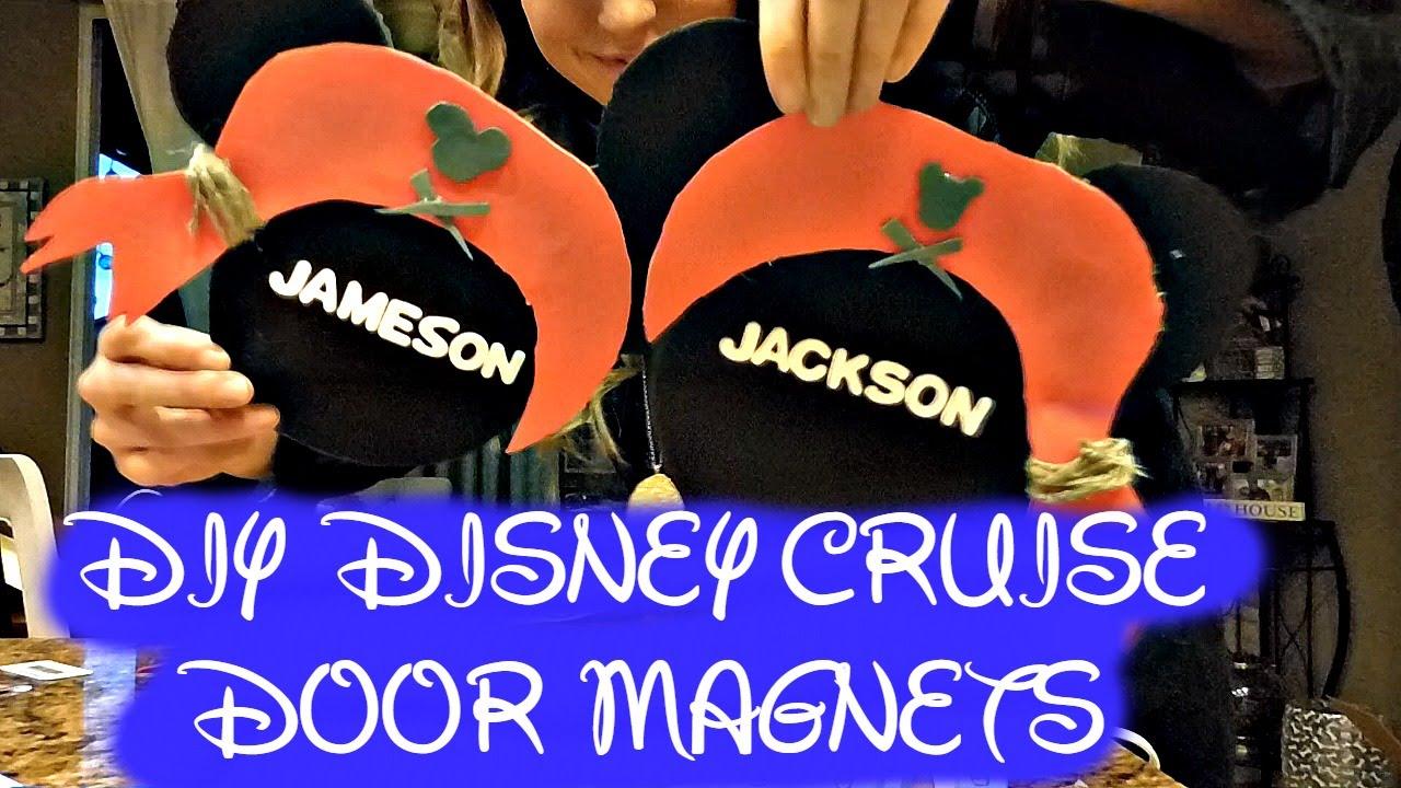 Diy Disney Cruise Door Magnets Youtube