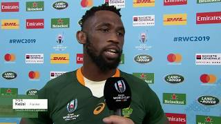 Rugby World Cup | QF | Japan v South Africa | Post-match interview with Siya Kolisi