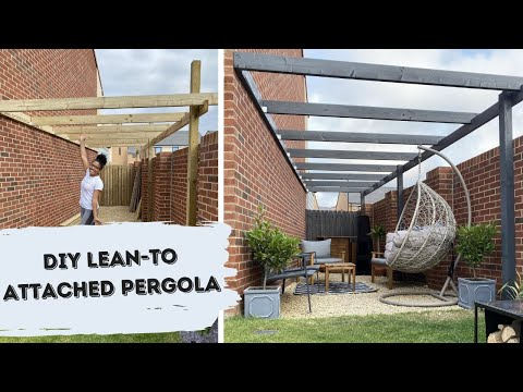 EASY MODERN PERGOLA DIY | Build a Pergola UK | Lean-to Attached Pergola | Shade Shannon