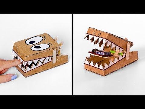 DIY Simple Slime Trap from Cardboard