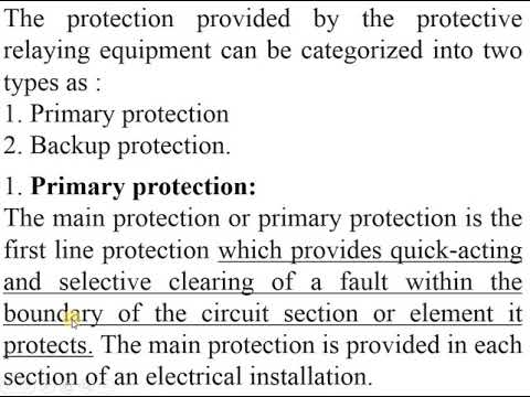 Primary And Backup Protection