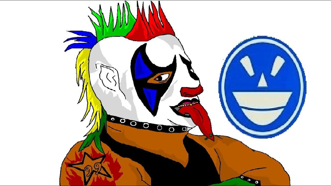 Como dibujar a Psycho Clown en Paint - YouTube