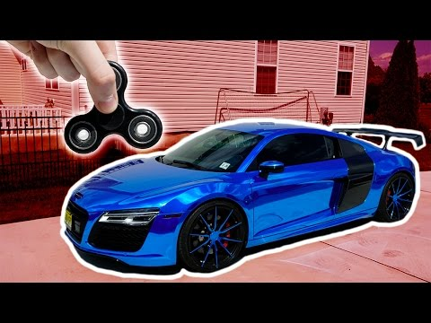 1000 MPH FIDGET SPINNER VS AUDI R8 (SUPERCAR)