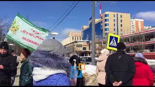 Обманутые дольщики взяли в заложники своих проблем автомобилистов Одинцово. Полиция бездействует.