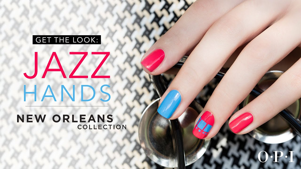 OPI New Orleans Nail Art Tutorial | Jazz Hands - YouTube