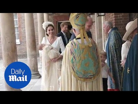 Royal Family arrive at Chapel Royal for Prince Louis' christening