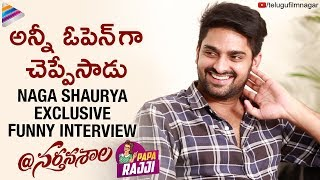 Naga Shaurya Exclusive FUNNY Interview | @Nartanasala Telugu Movie | Naga Shourya | Telugu FilmNagar