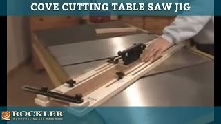 Cove Cutting Table Saw Jig