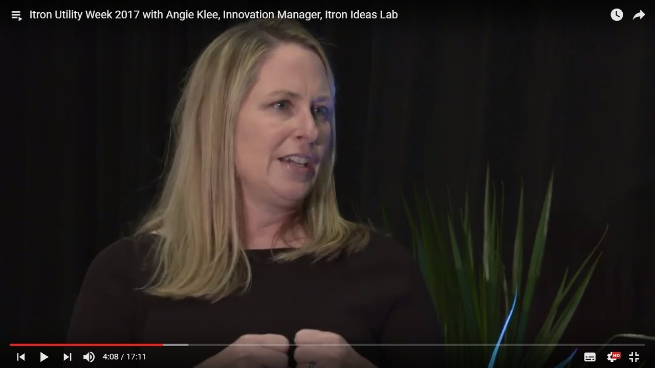 The value of innovation for utilities with Angie Klee (Itron Utility Week 2017)