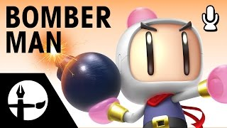 Bomberman Smashified - Time Lapse Painting (Commentary with Chris & Mykal)