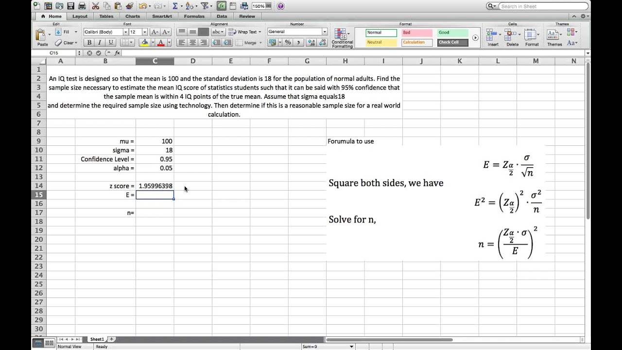 How to Calculate Sample Size to Contruct a Confidence Interval ...