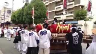 難波八阪神社夏祭り出陣