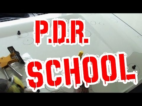 Paintless Dent Repair For Beginners-Do It Yourself-Glue Tab Dent Removal-Part 4