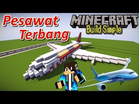 BIKIN Pesawat Terbang - Minecraft - YouTube