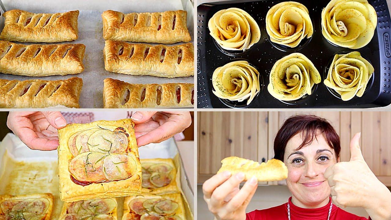 3 ricette con patate e pasta sfoglia 3 idee facili e