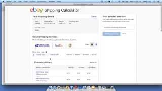 2014 Calculating Ebay Shipping Costs in 1 Minute!