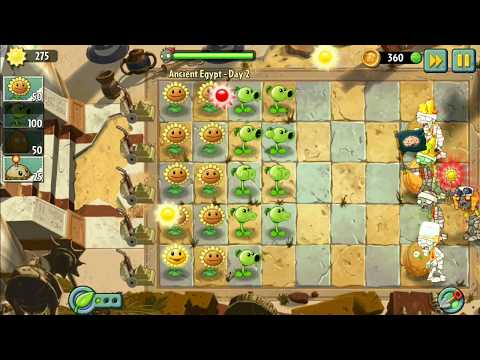 Plants vs. Zombies 2 - Ancient Egypt  Day 2