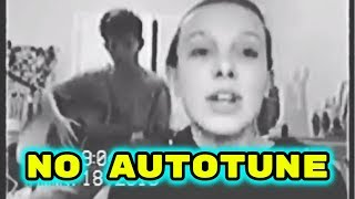 MILLIE BOBBY BROWN SINGS WITH JACOB SARTORIUS ***NO AUTOTUNE*** | Week.ly Musical.ly