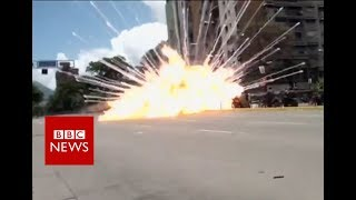 Explosions and clashes in Venezuela   BBC News