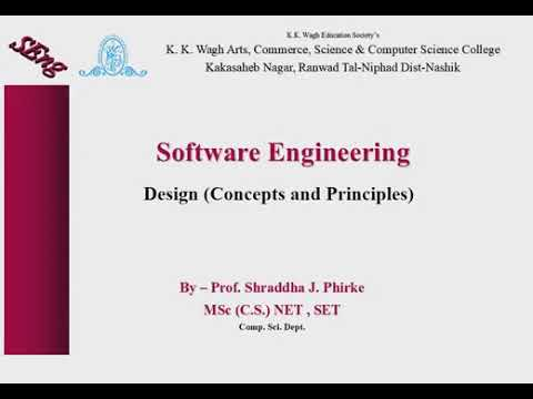 Software Design Concepts And Principles Software Engineering Youtube