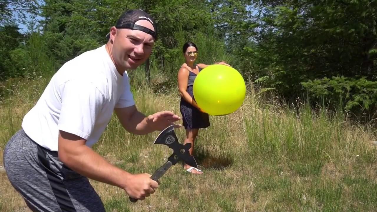 Crazy Tomahawk Stunt with My Wife