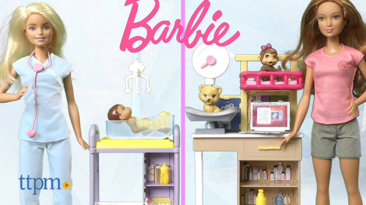 Barbie Zoo Doctor Playset Two adorable pets include a laptop Kids toy for girl