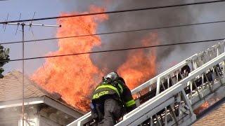 Passaic Fire Department Working 4th Alarm House Fire 7-20-16